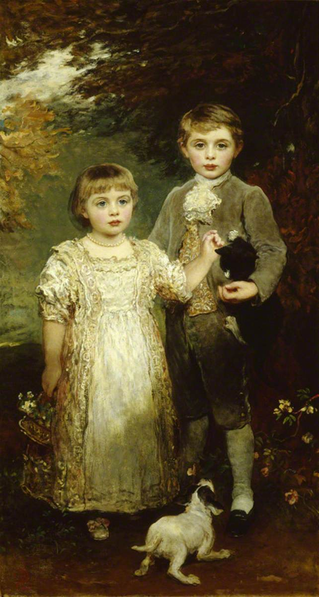 James Sant (1820-1916) - The Honourable Arthur Victor Agar-Robartes (1887–1974), and the Honourable Edith Violet Kathleen Agar-Robartes (1888–1965), as Children - 884932 - National Trust.jpg