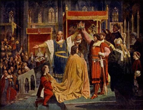 File:Karel Svoboda (1824-1870) - Korunovace císaře Albrechta II. za krále českého roku 1438.jpg