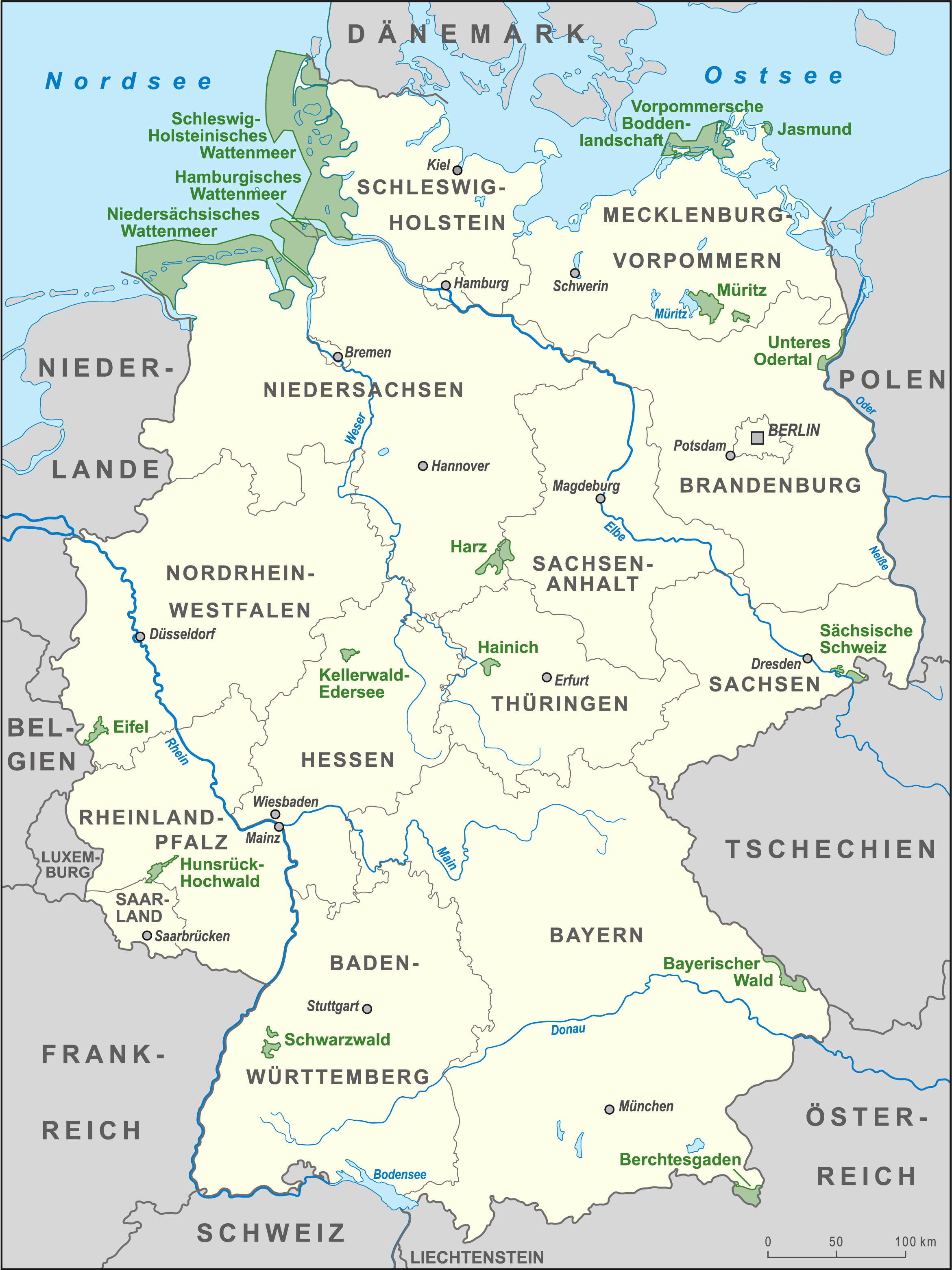 parks deutschland karte File:Karte Nationalparks Deutschland high.png   Wikimedia Commons