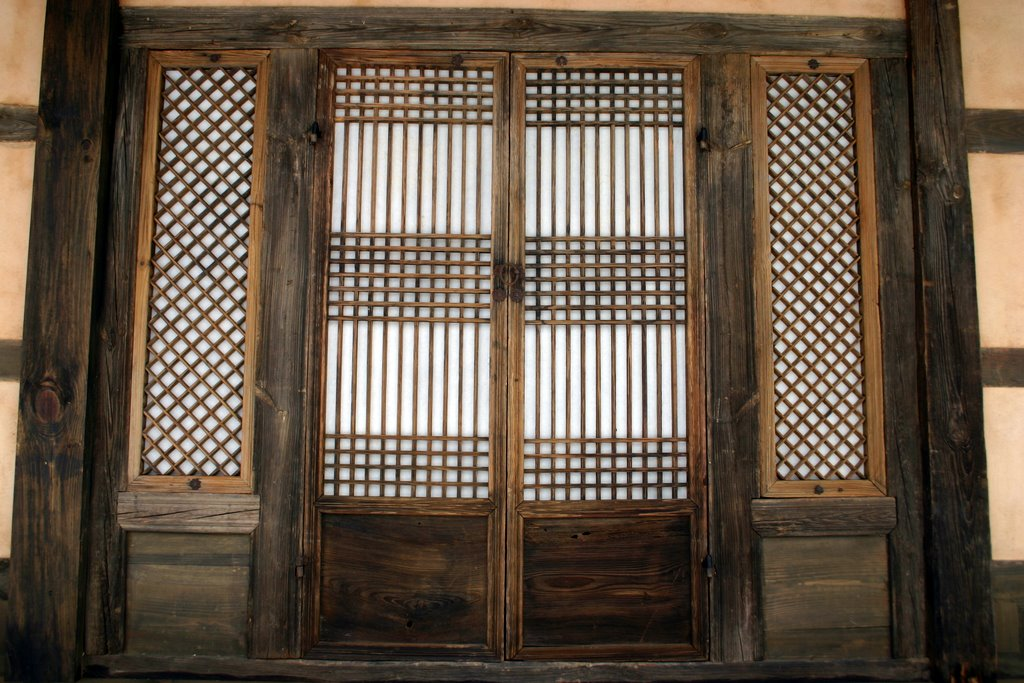 file korea snow in andong papered door in a hanok 01