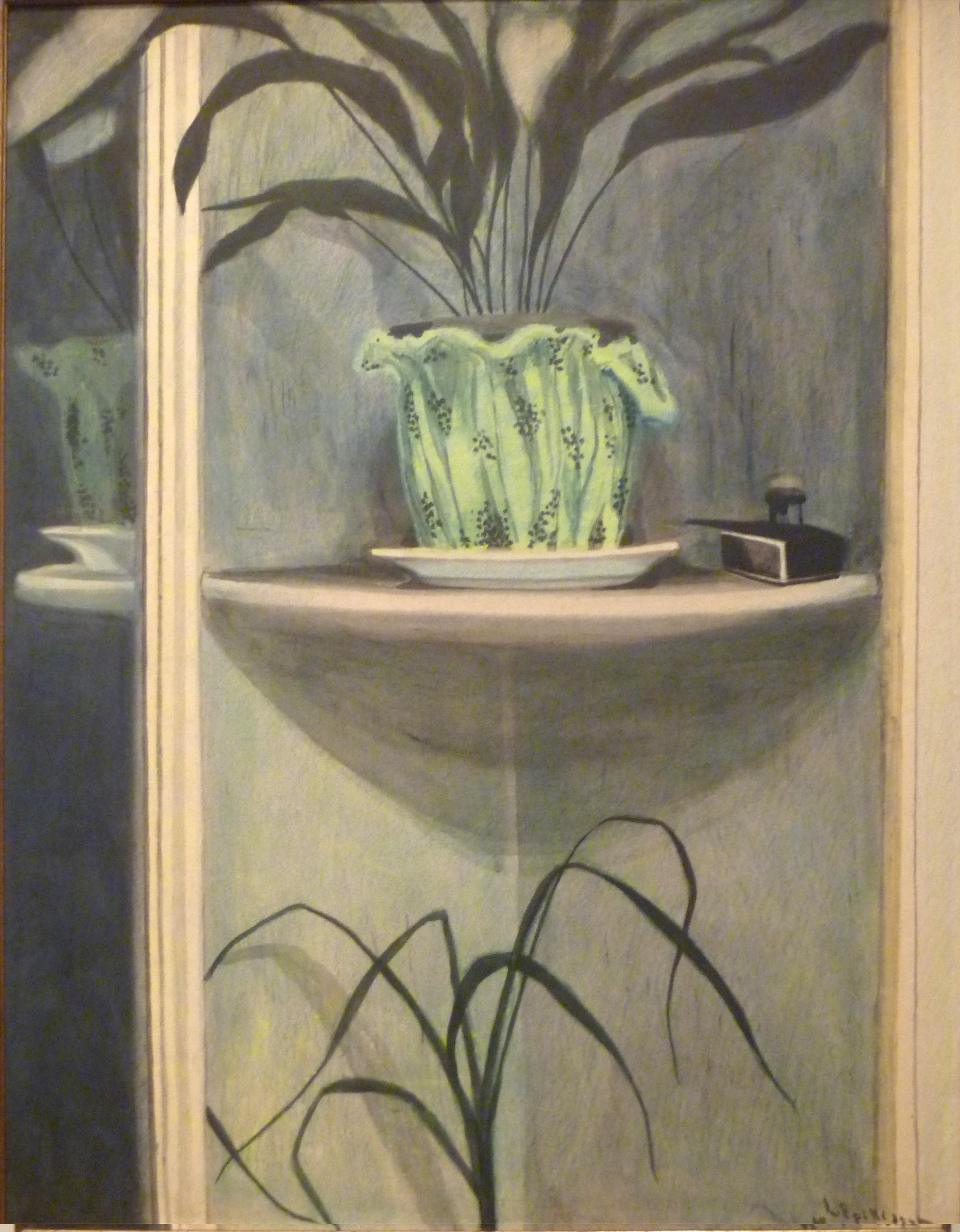 File l on spilliaert 1908 planten inktpot en spiegel for Spiegel history