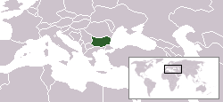 Lokaasje fan Bulgarije