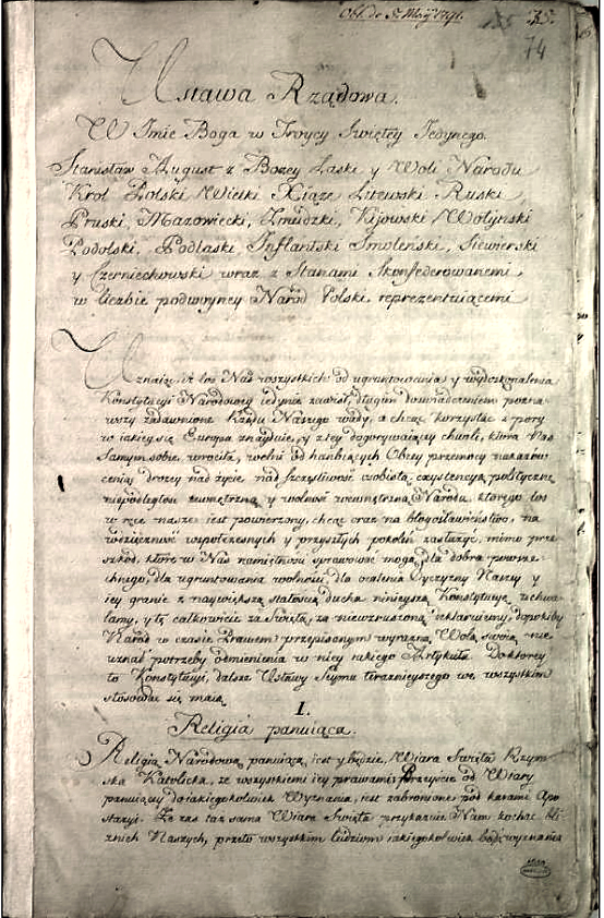 Manuscript_of_the_Constitution_of_the_3rd_May_1791 In Defense Of Stanisław, the Last King Of Poland