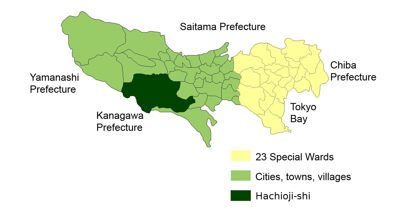 FileMap Hachioji Enpng Wikimedia Commons - Hachiōji map