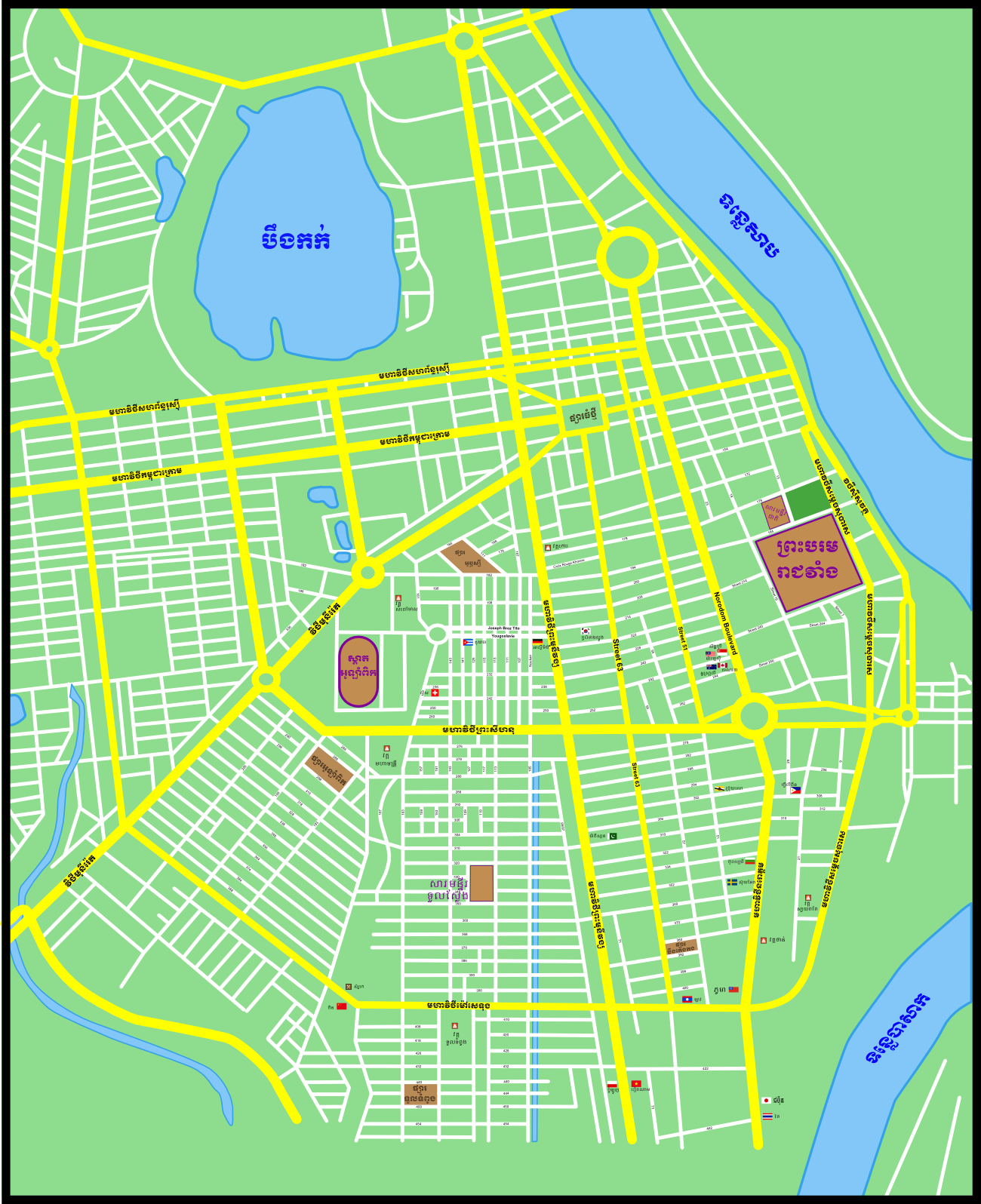 File:Map of Phnom Penh.png - Wikimedia Commons Phnom Penh Map