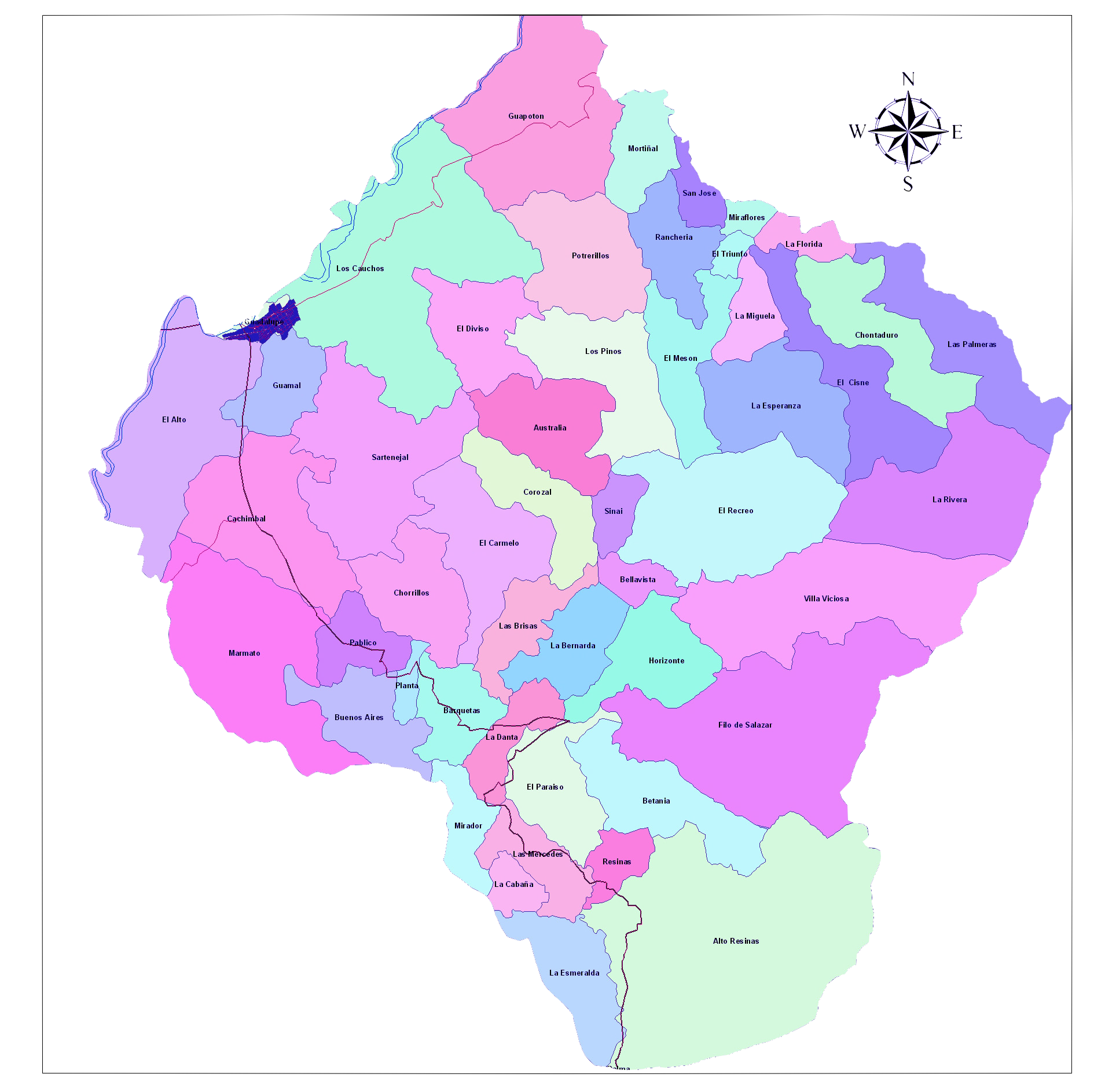 guadalupe mapa Archivo:Mapa Guadalupe Huila Janime.png   Wikipedia, la  guadalupe mapa