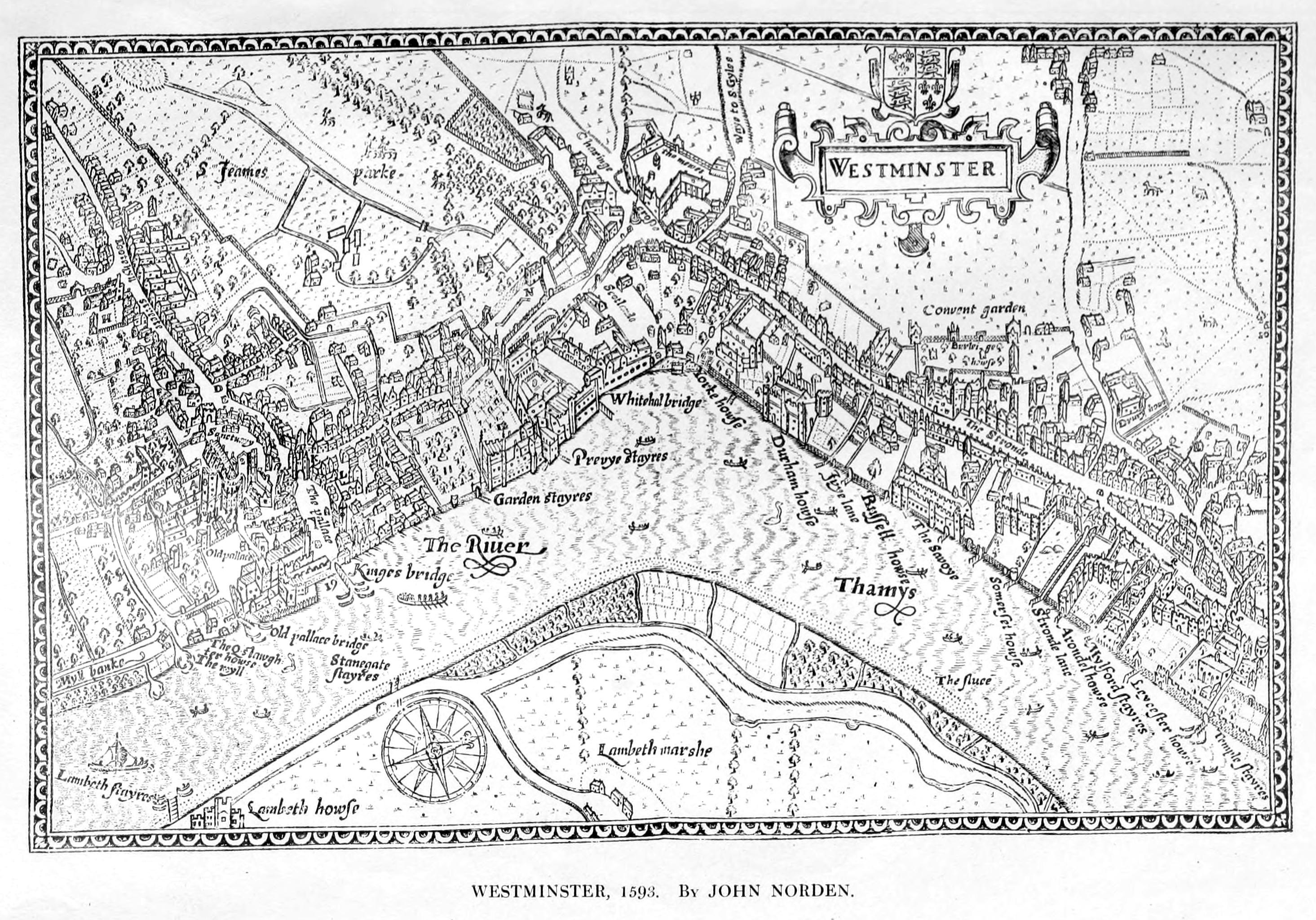 London 1600 Map.File Maps Of Old London Norden Westminster Jpg Wikimedia Commons