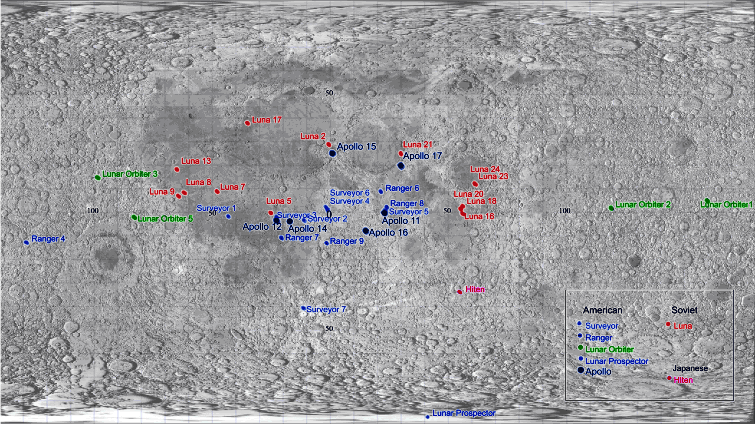 List of artificial objects on the Moon - Wikipedia