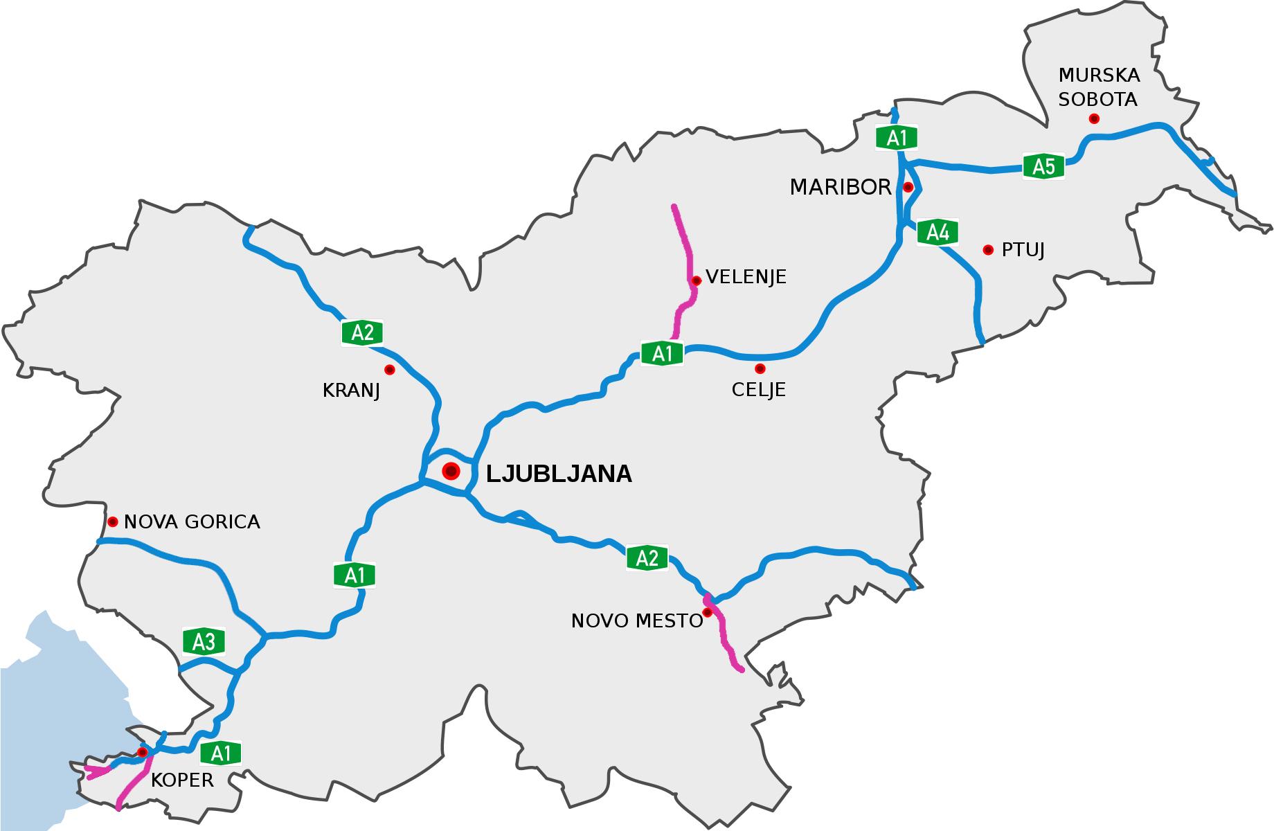 Liste Der Autobahnen Und Schnellstrassen In Slowenien Wikipedia