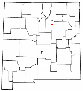 Location of Las Vegas, New Mexico