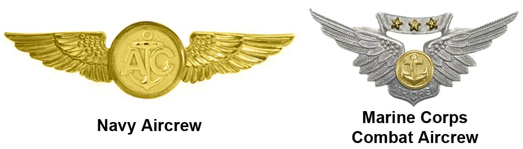 MARINE CORPS COMBAT AIR CREWMAN BADGE WINGS PATCH USMC