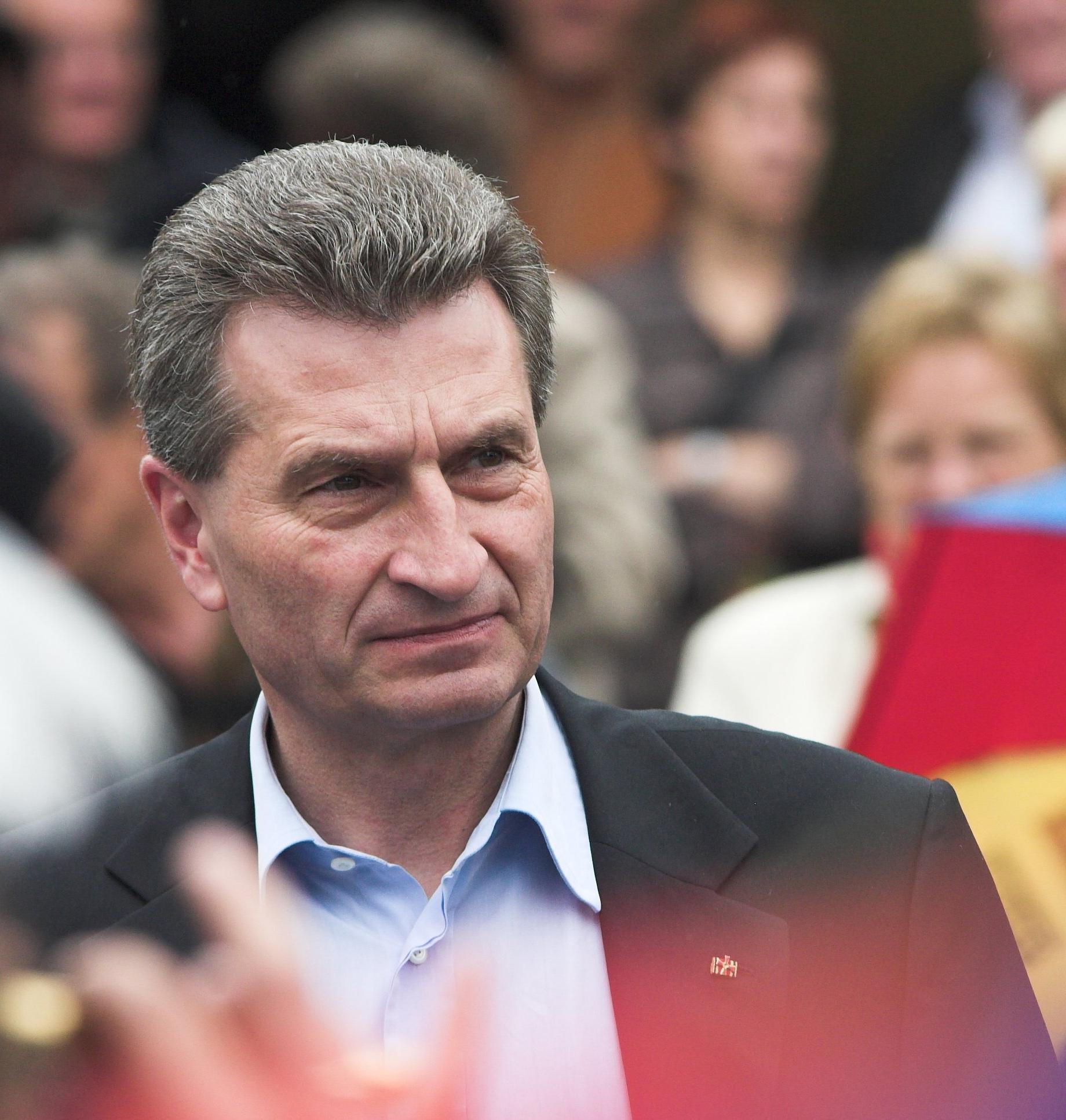 Günther Oettinger Größe