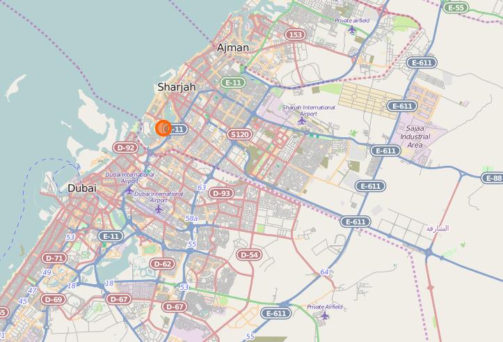 file open street map of barjeel location in sharjah wikimedia commons. Black Bedroom Furniture Sets. Home Design Ideas