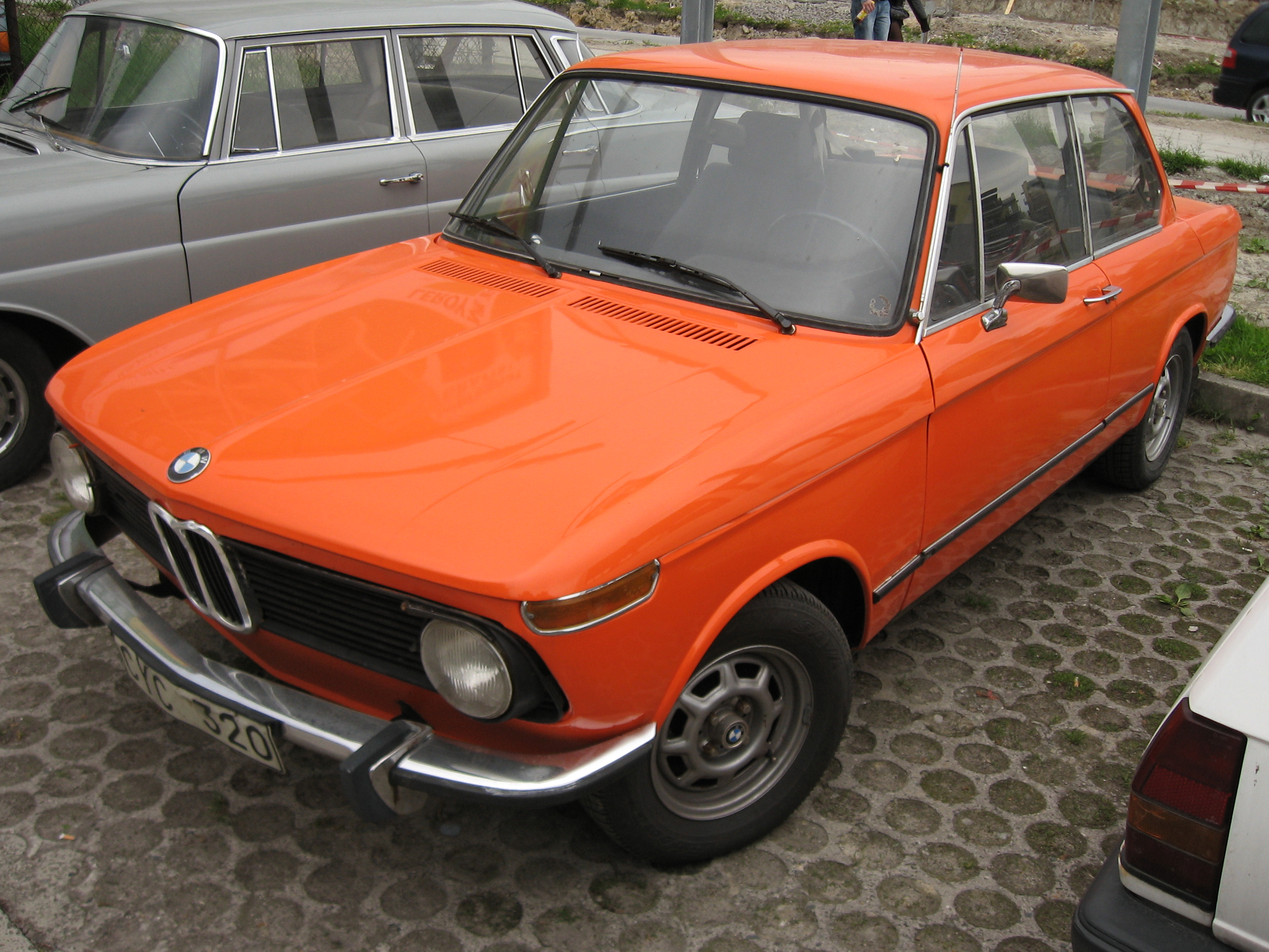 Bmw 2002 For Sale >> File:Orange BMW 1502 on a parking lot in Kraków (1).jpg ...