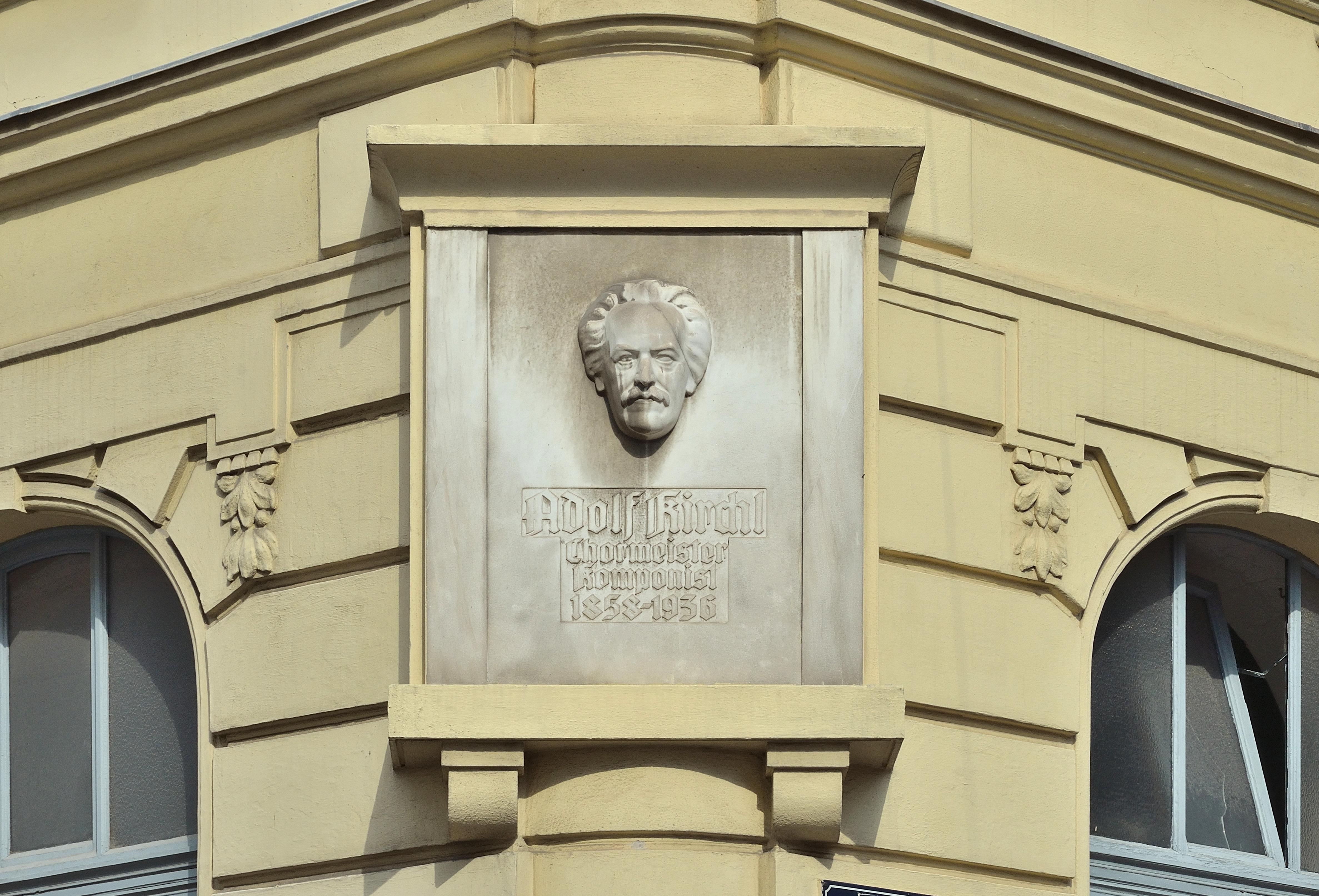 Plaque Adolf Kirchl, Baumanngasse 1.jpg