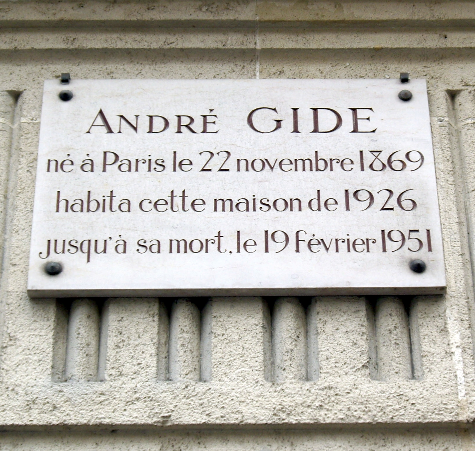 http://upload.wikimedia.org/wikipedia/commons/9/9d/Plaque_André_Gide,_1_bis_rue_Vaneau,_Paris_7.jpg