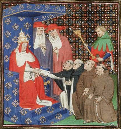 Pope Innocent IV sends Dominicans and Franciscans out to the Tartars (Mongols). Pope Innocent IV sends Dominicans and Franciscans out to the Tartars.jpg