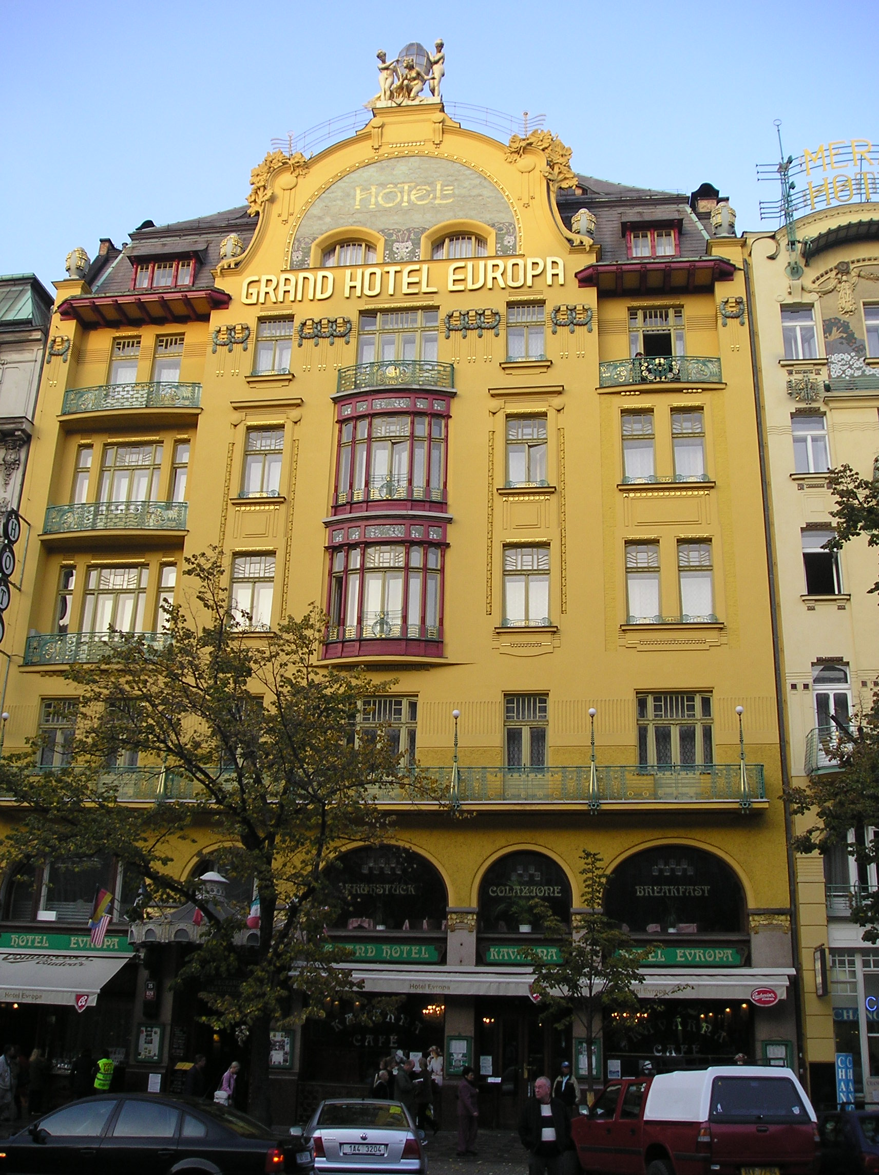 File praha grand hotel europa jpg wikimedia commons for Europe hotel prague