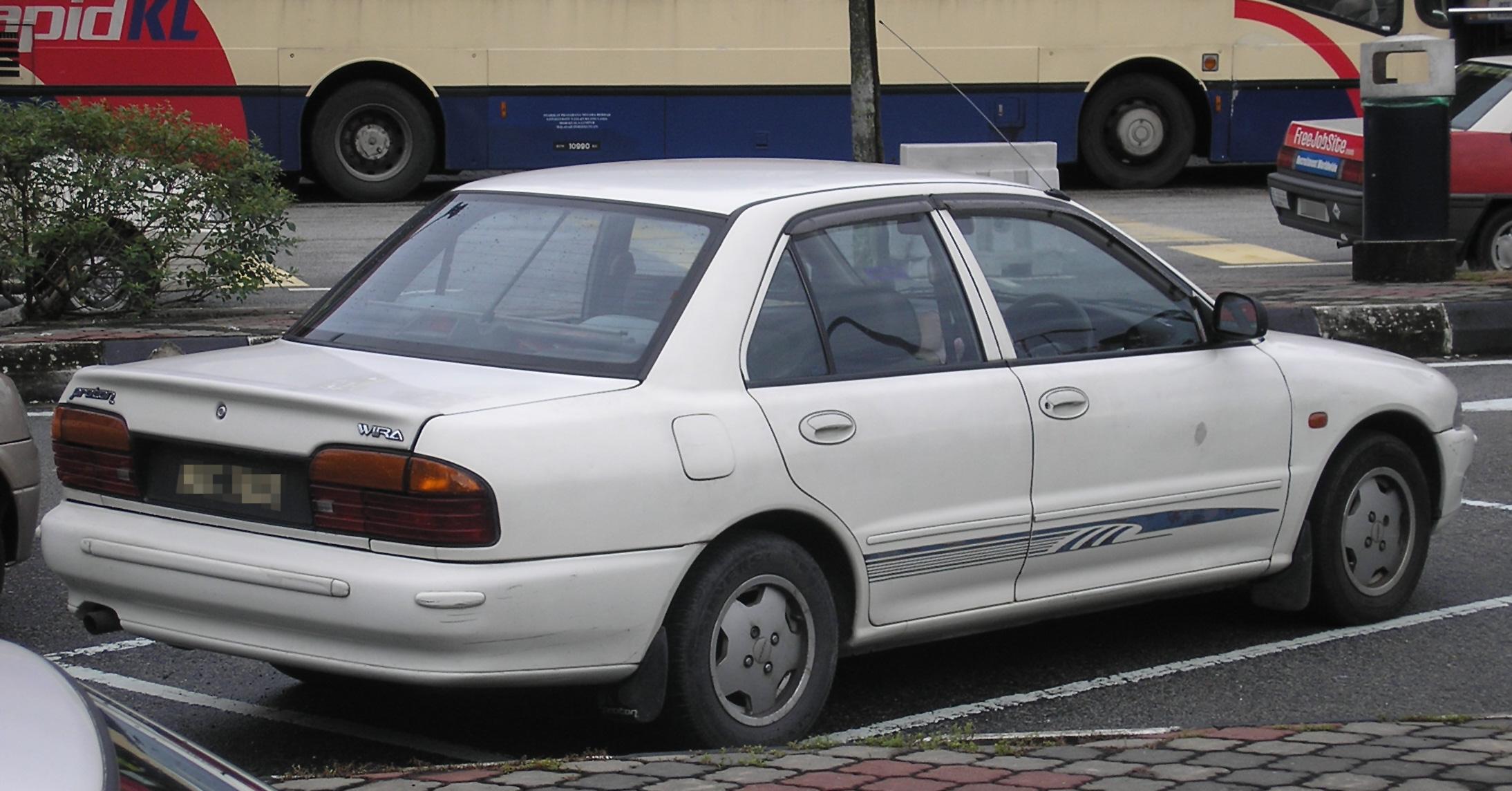 File Proton Wira Saloon First Generation Rear Kuala Lumpur