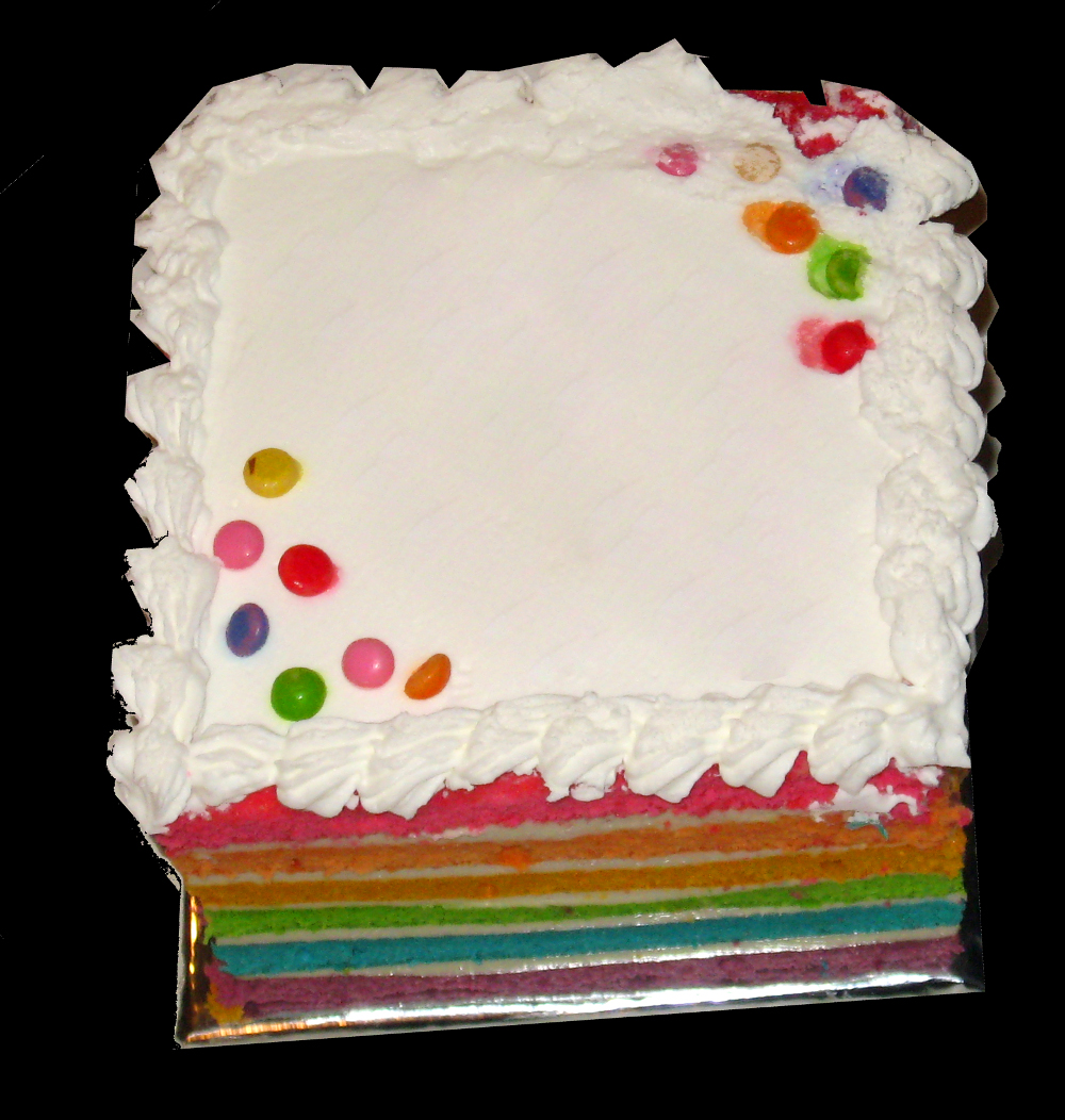 Rainbow Cake With Buttercream Icing