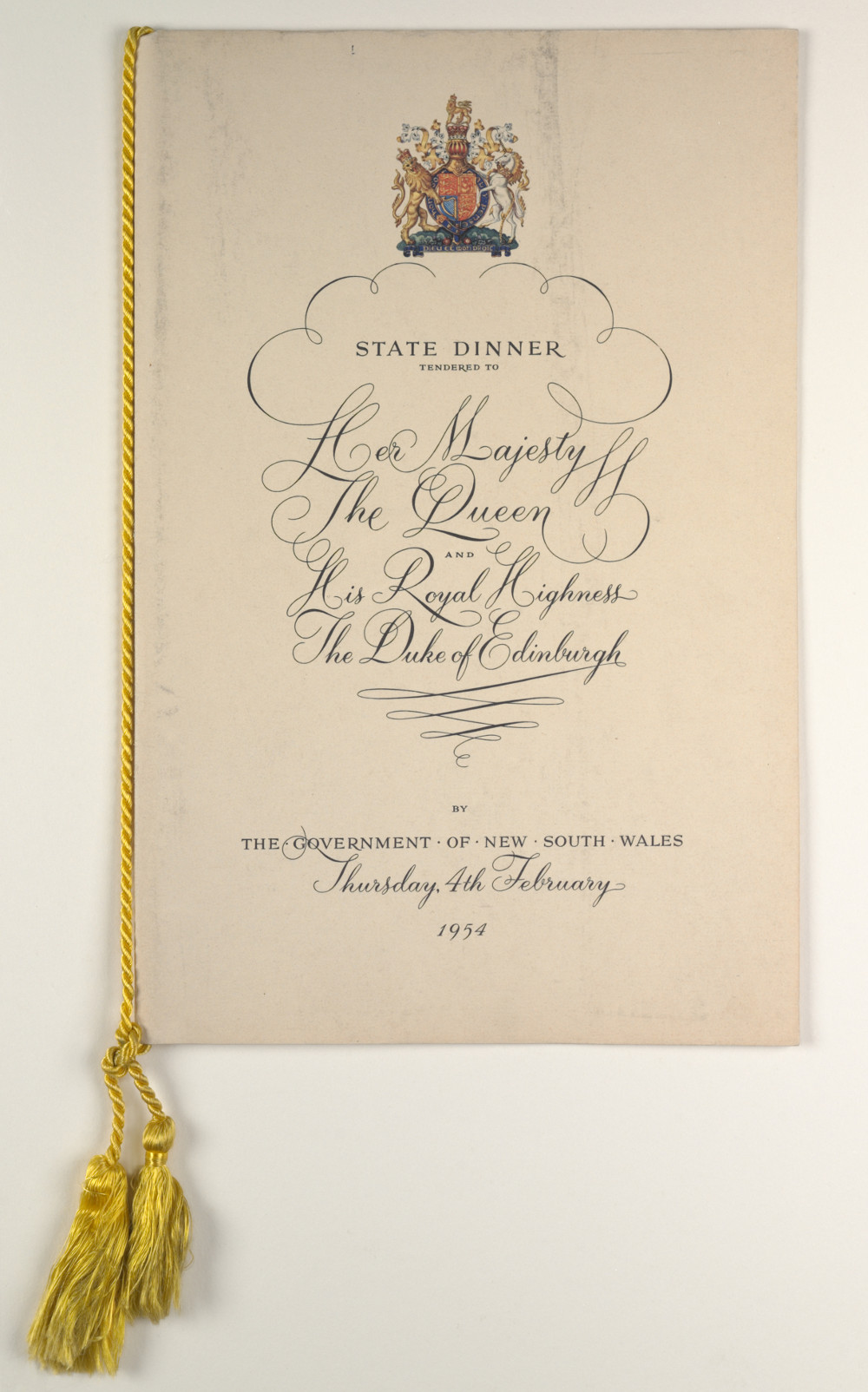 File Royal Visit 1954 State Dinner Menu Cover