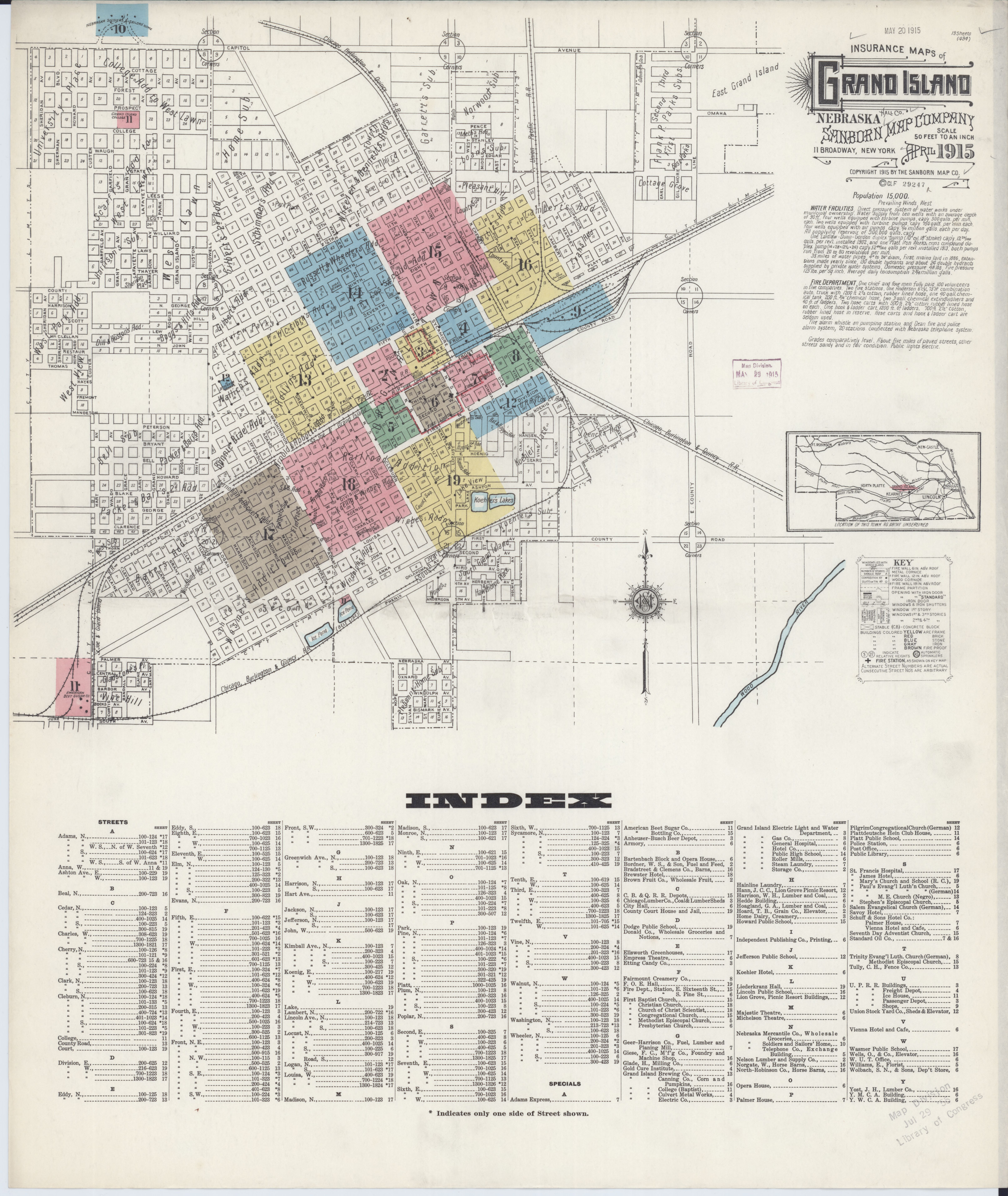 Grand Lake Fire Map.File Sanborn Fire Insurance Map From Grand Island Hall County