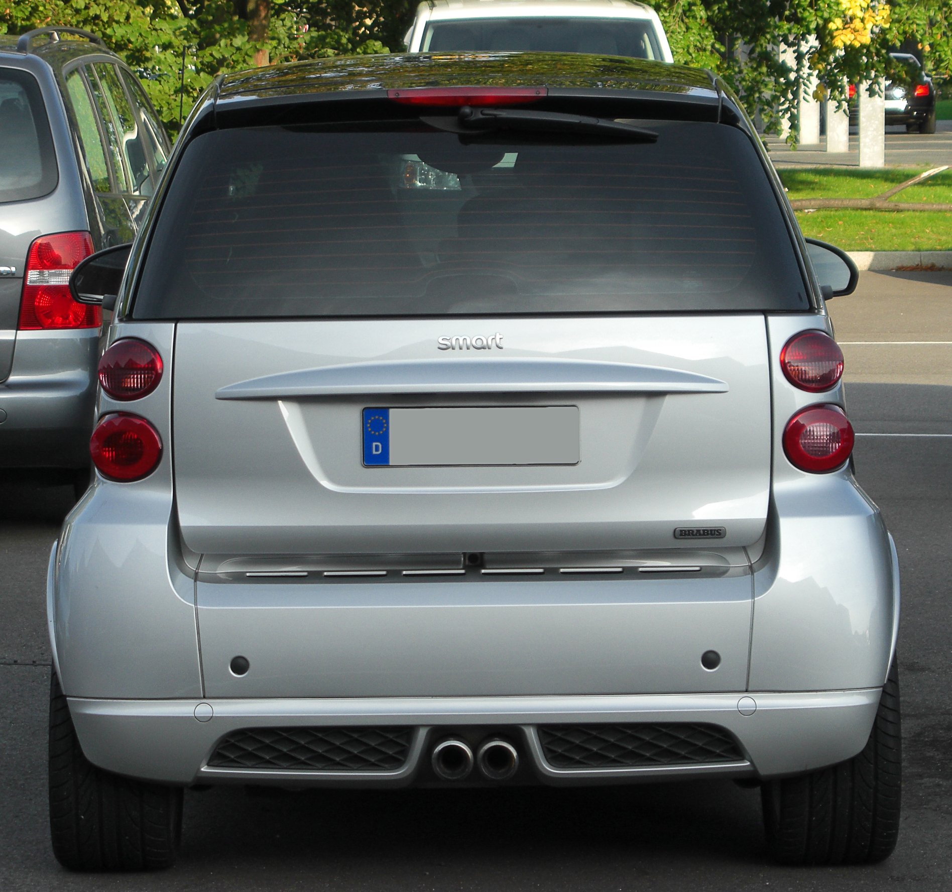file smart fortwo ii brabus rear 2 wikimedia commons. Black Bedroom Furniture Sets. Home Design Ideas