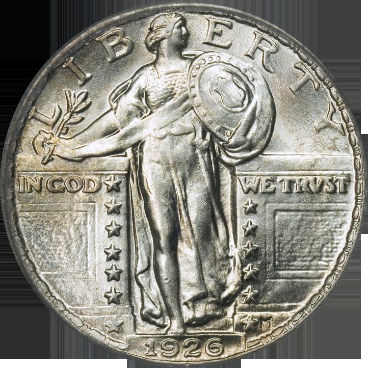 File Standing Liberty Quarter Type2m 1926 Obverse Png