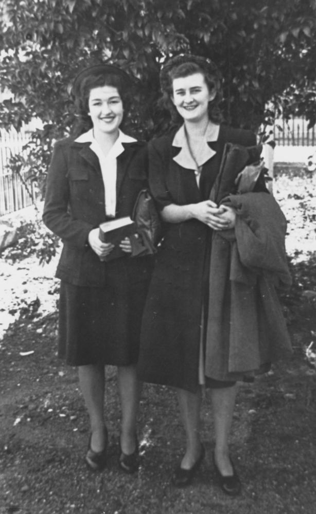 File Statelibqld 1 162659 Two Women Dressed For Work 1940
