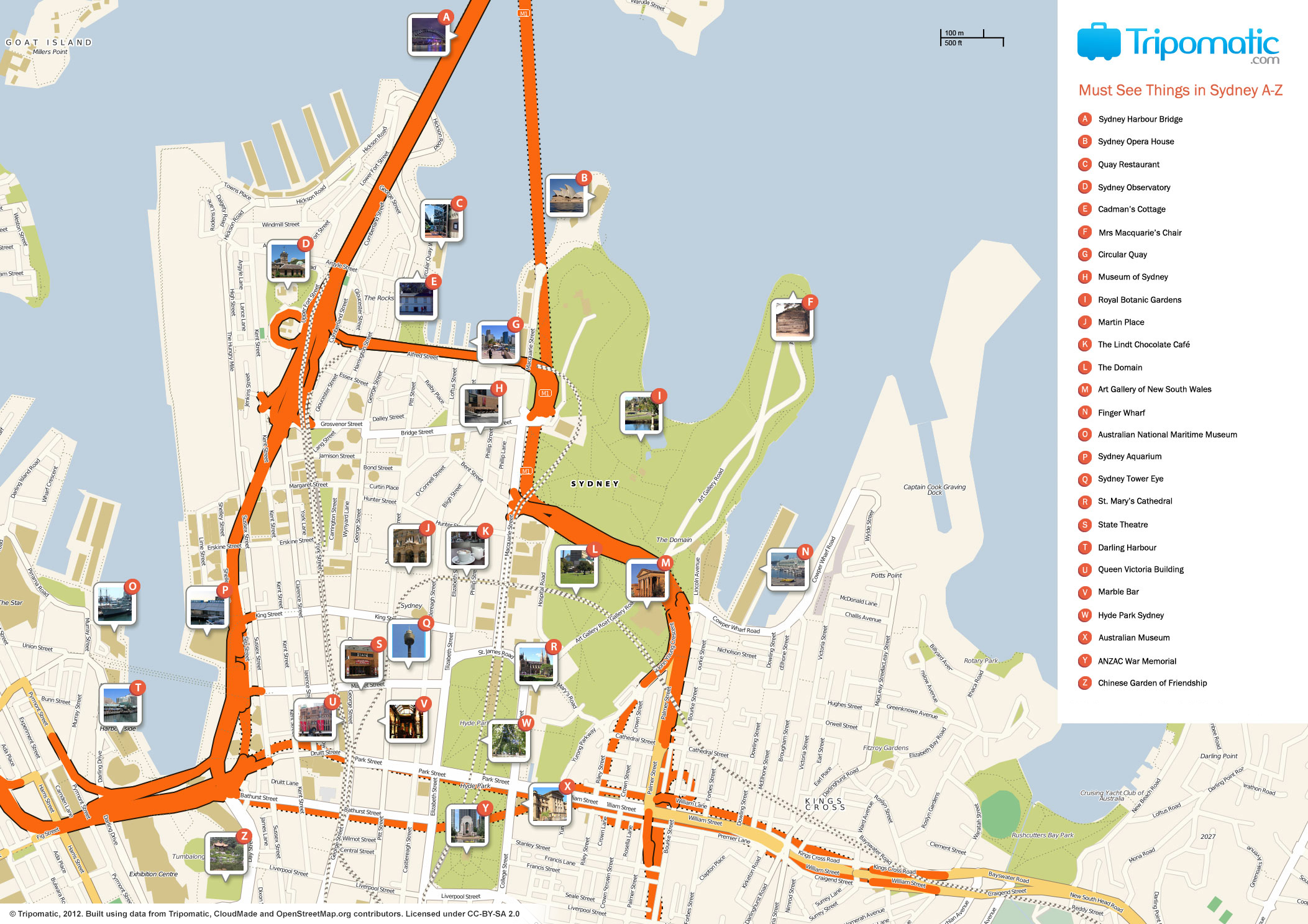 FileSydney printable tourist attractions mapjpg Wikimedia Commons – Sydney Tourist Map