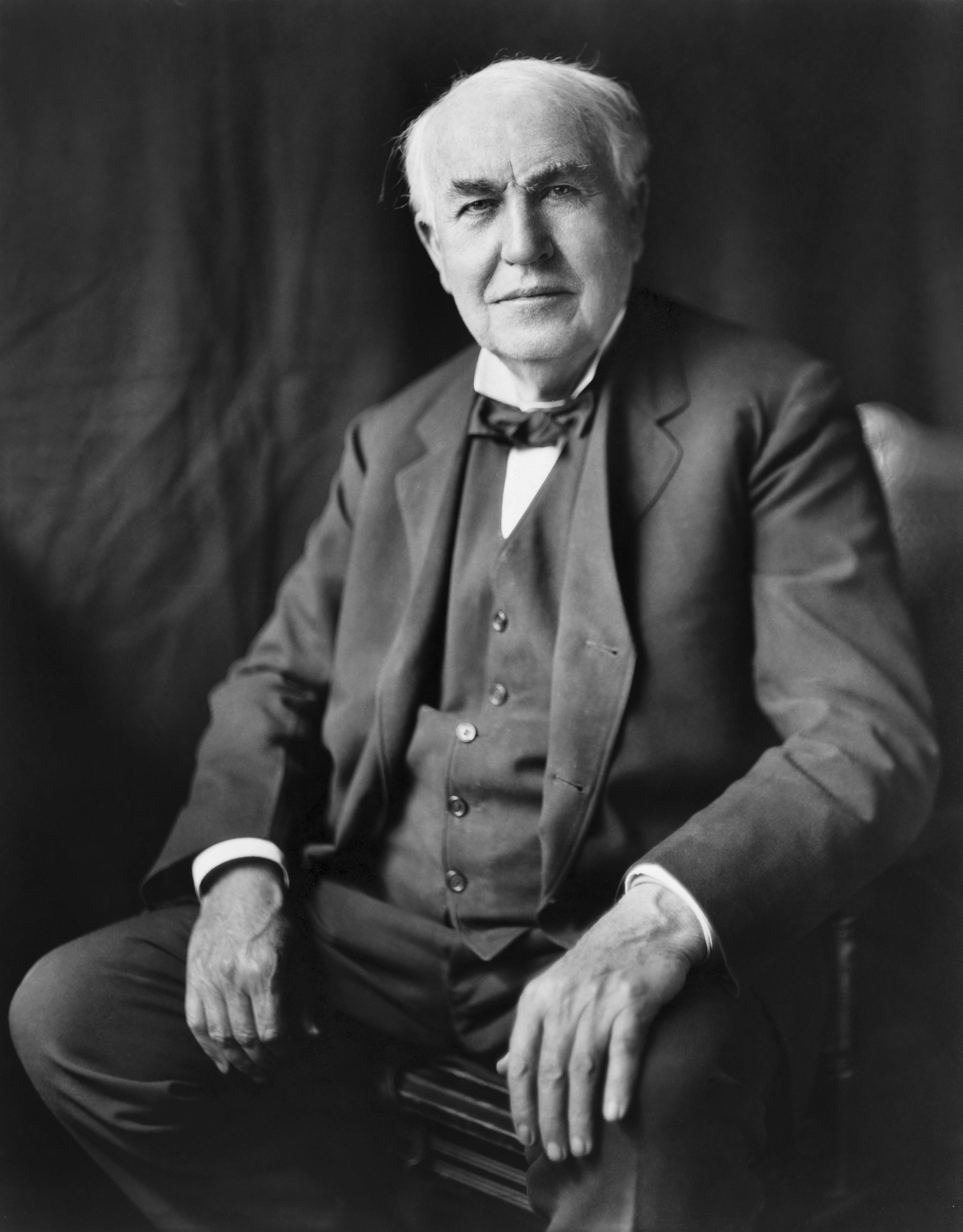 Depiction of Thomas Alva Edison