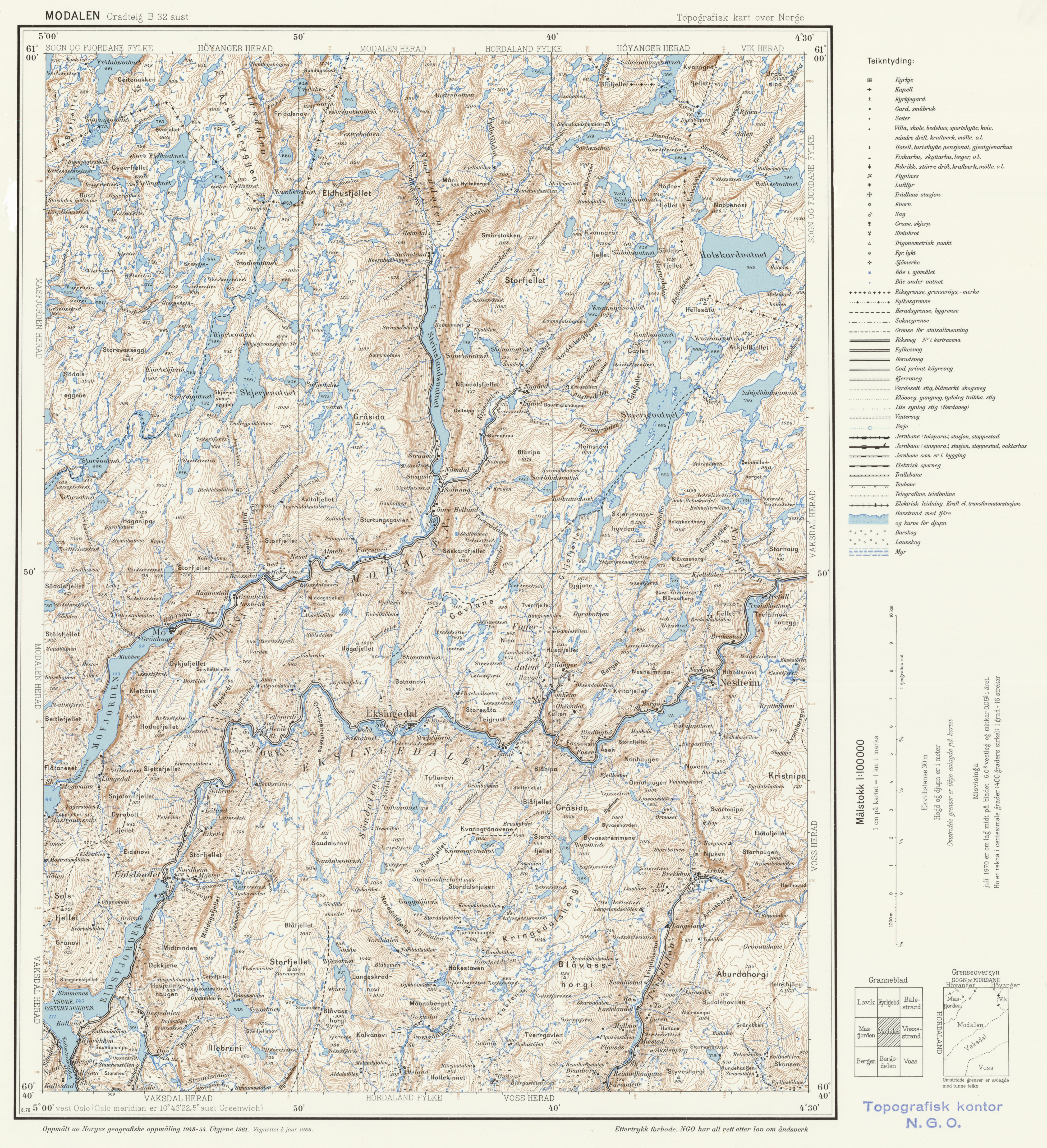 Topographic Map Of Norway.File Topographic Map Of Norway B32 Aust Modalen 1966 Jpg
