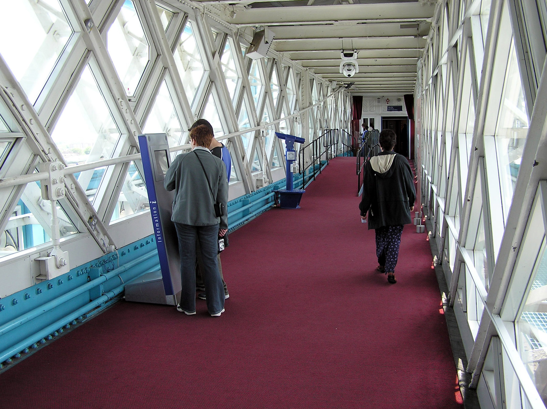 Interior of high-level walkway (used as an exhibition space)