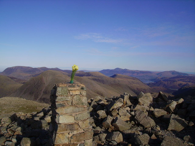 Trig Pillar, Scafell Pike - geograph.org.uk - 327868