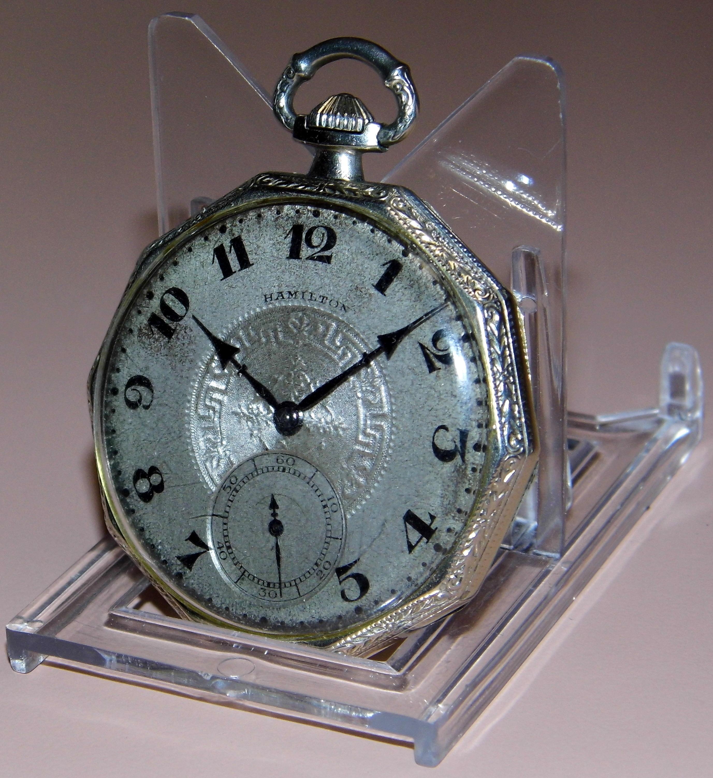 filevintage hamilton pocket watch size 12s 17 jewels
