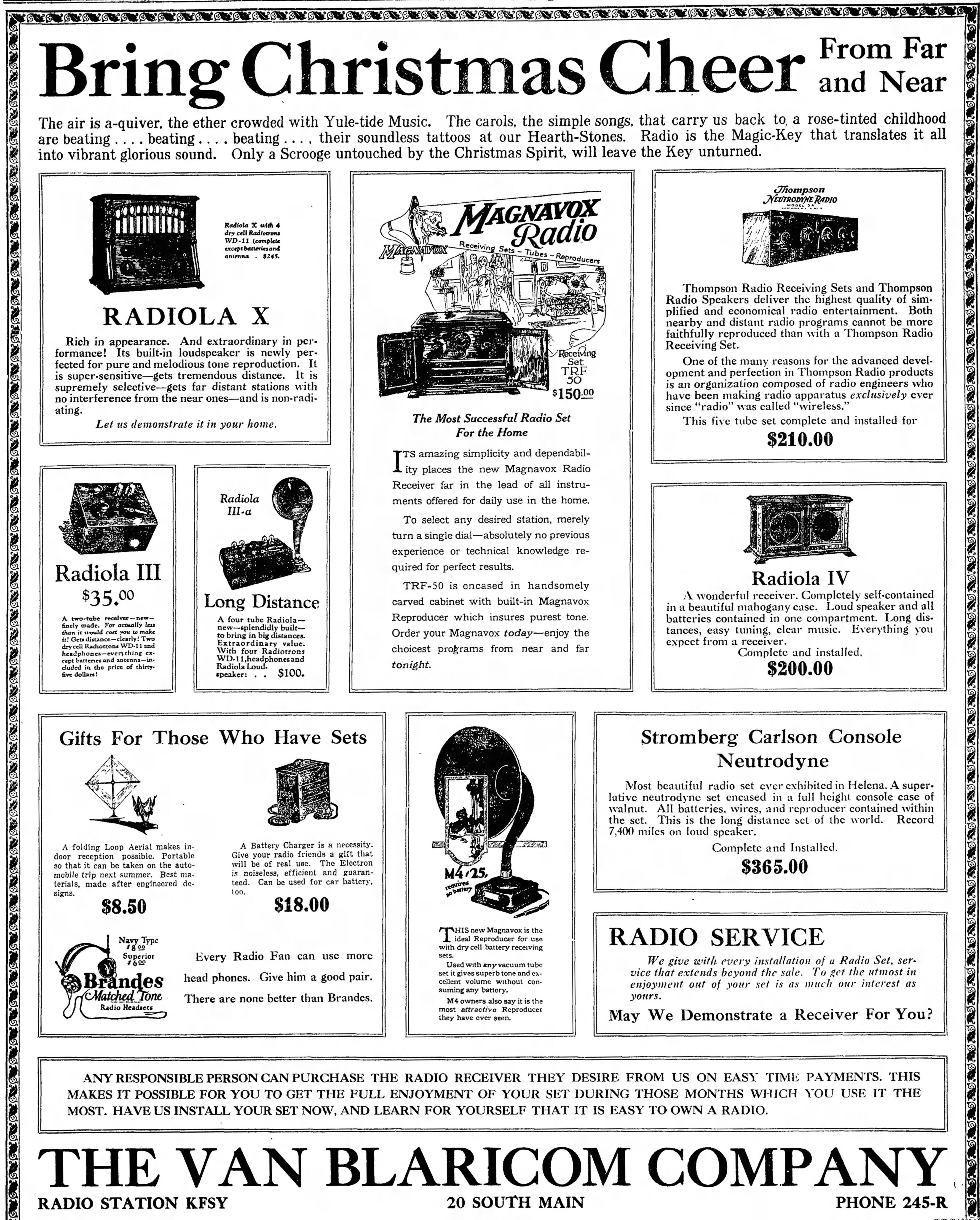 File:Vintage Radio Advertising Just In Time For Christmas, From The ...