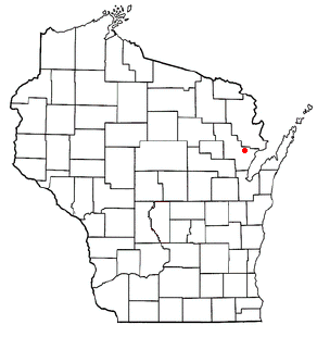 Location of Lena (town), Wisconsin