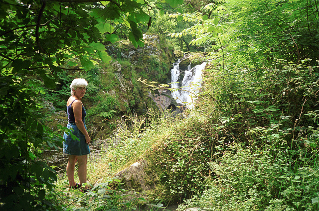 Waterfall near Miner's Bridge, Betws-y-Coed - geograph.org.uk - 1434823
