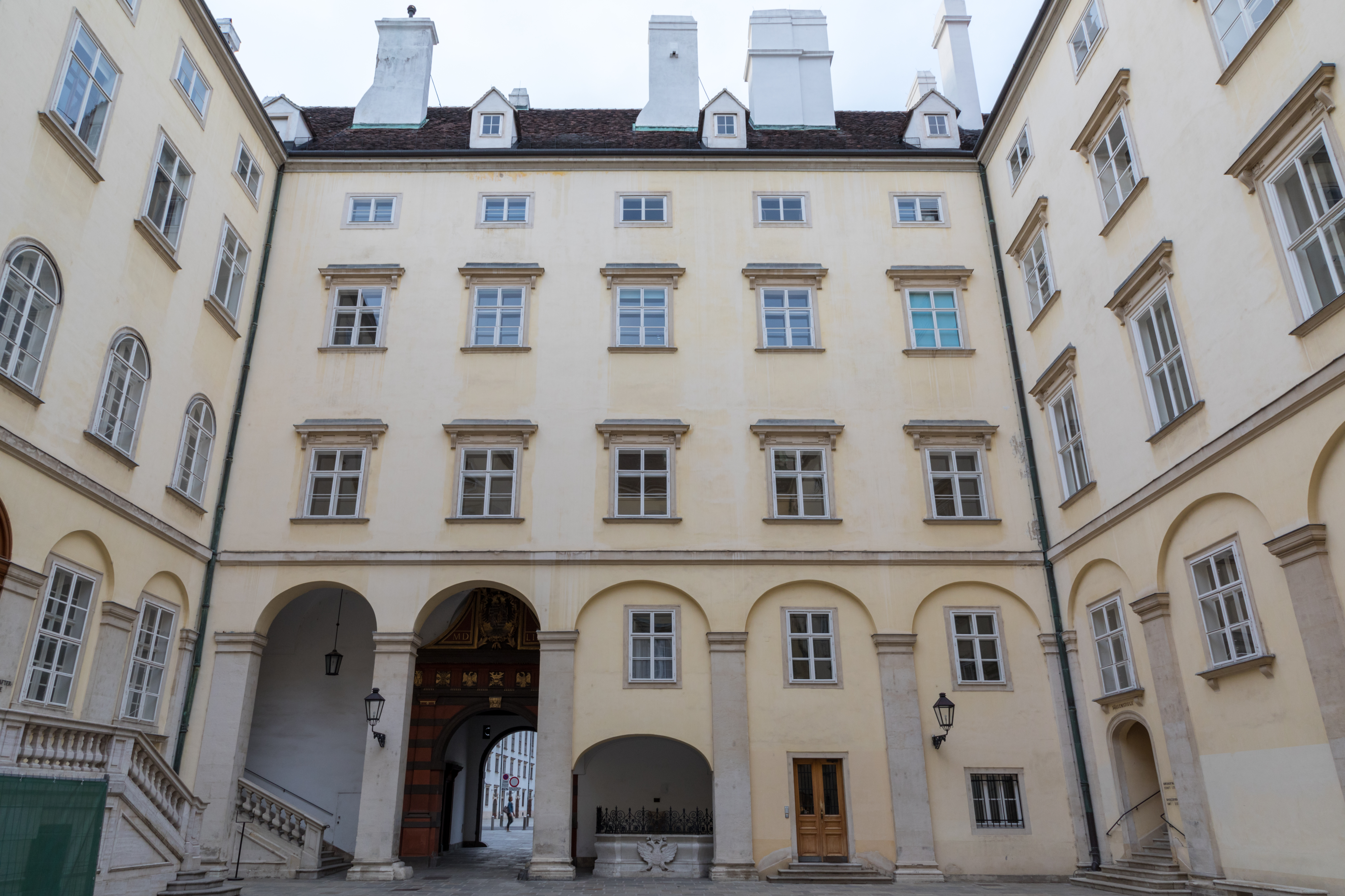 Hofburg, Vienna, Austria (2018) German Hofburg, Wien, Österreich (2018) object has role: photographer World Heritage Site ID: 1033 refine date: 19:59