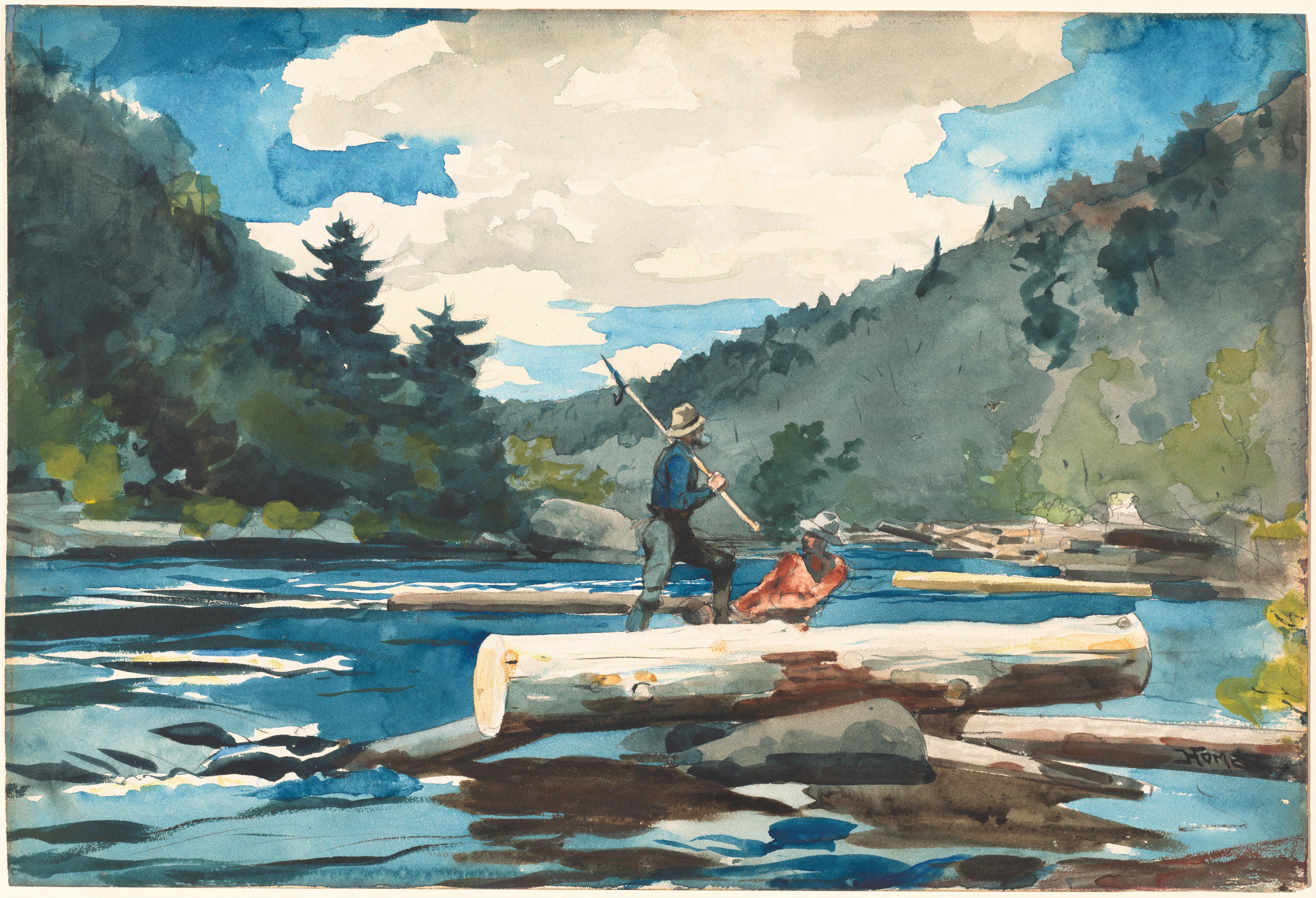 File winslow homer 39 hudson river 39 for Hudson log