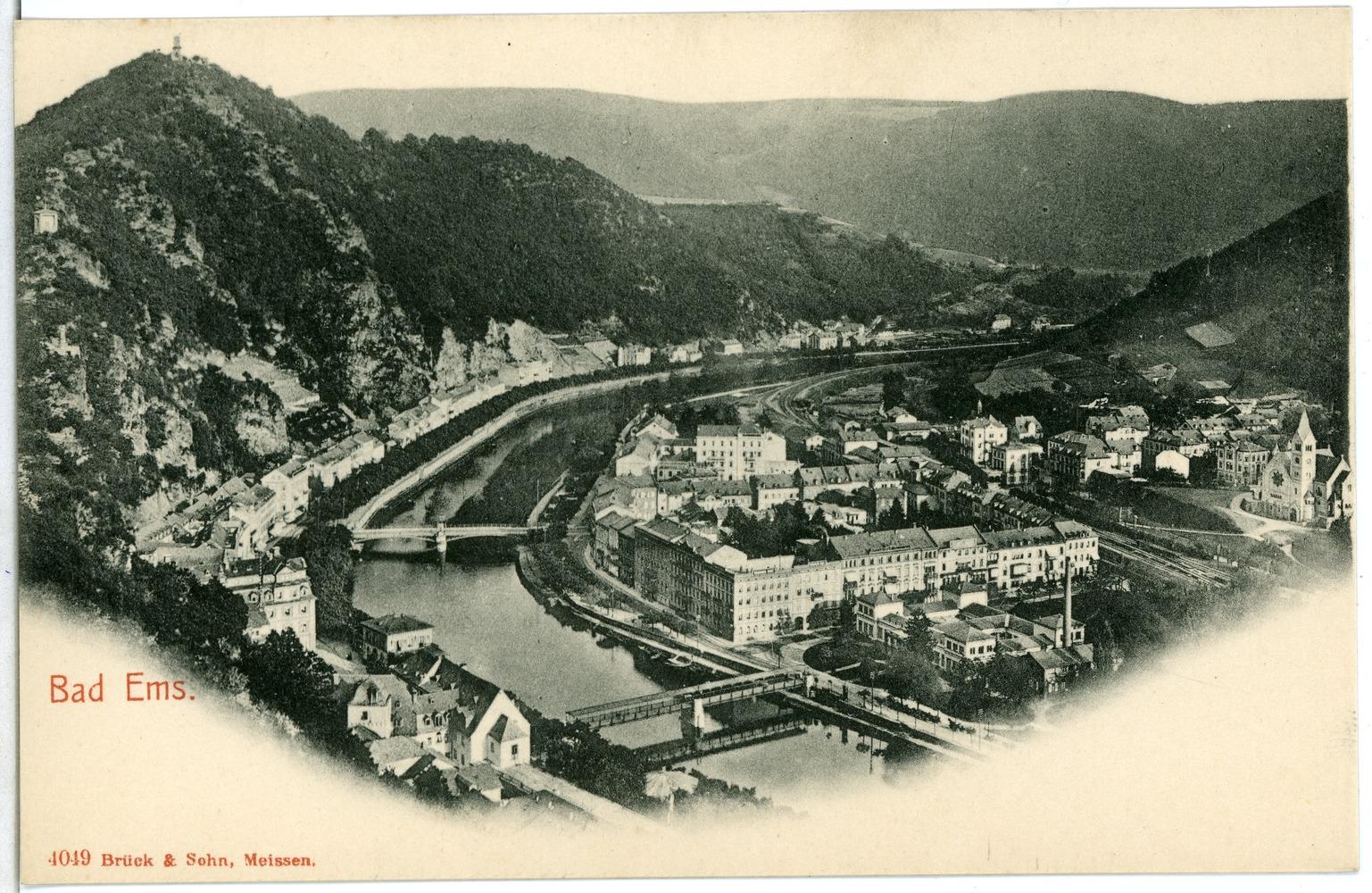 file 04049 bad ems 1903 blick auf bad ems und der lahn mit br 252 cken br 252 ck sohn kunstverlag jpg