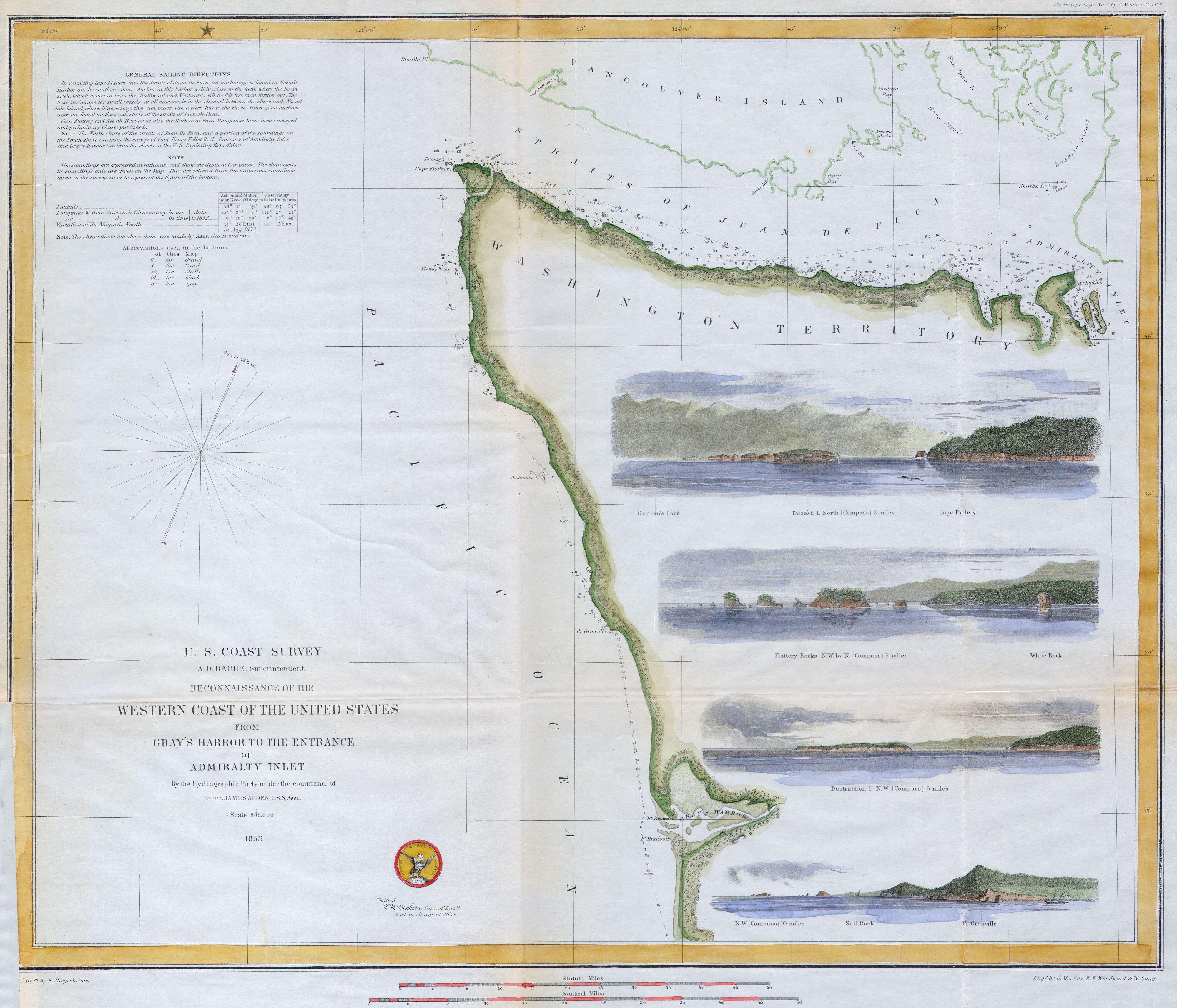 file 1853 u s c s map or chart of northwestern washington state vancouver island