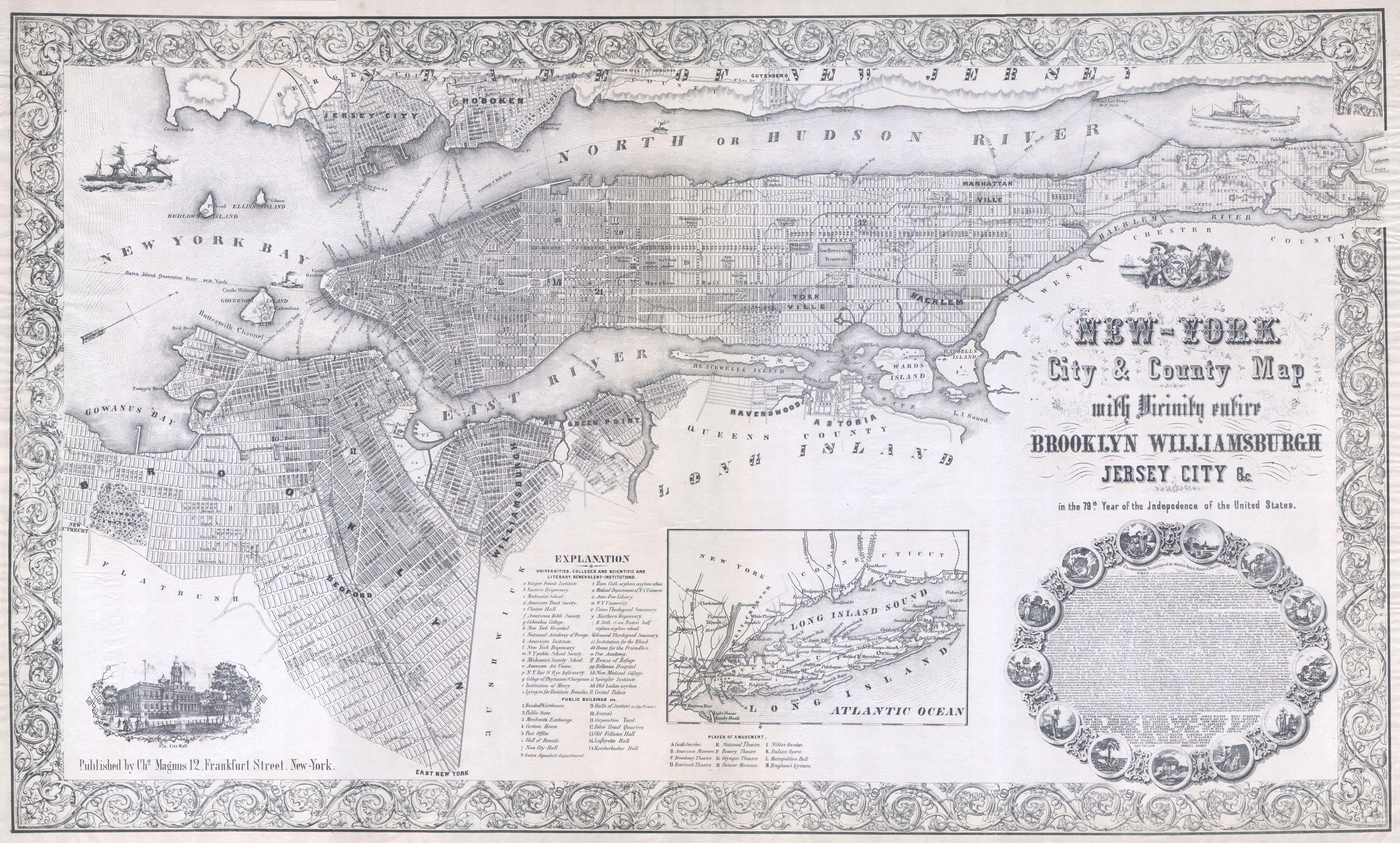 File1855 Magnus Map of New York City and Brooklyn Geographicus