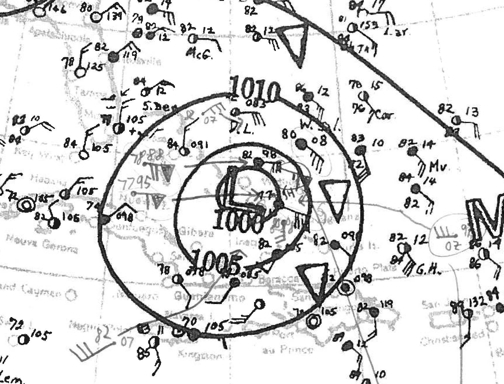 hurricanes analysis To conduct our analysis, we have selected two sets of data the first set  corresponds to seven hurricanes that hit an area of the us atlantic.