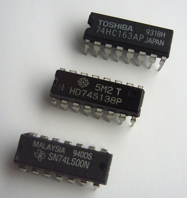 Texas Instruments and other brands of 7400 series TTL and CMOS logic.