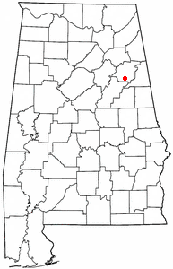 Location of West End-Cobb Town, Alabama