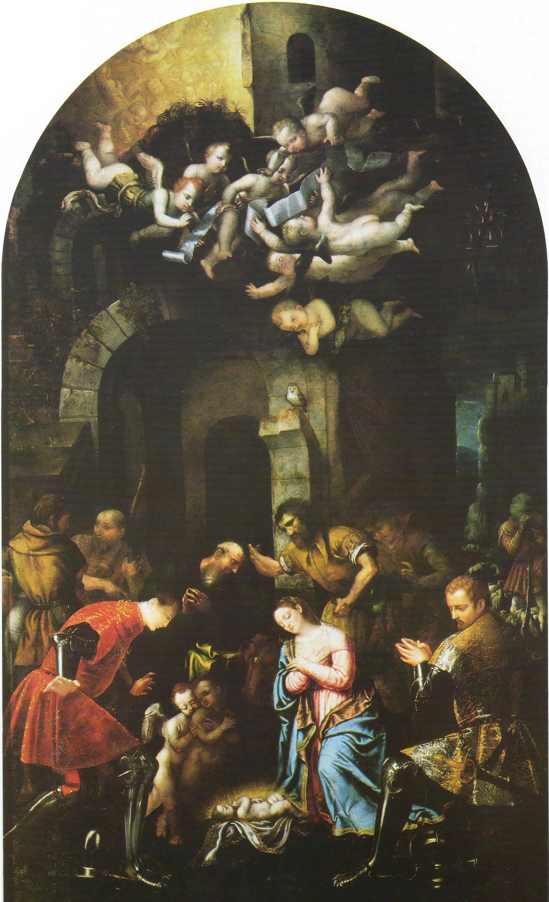 Adorazione dei pastori con i santi Nazario e Celso
