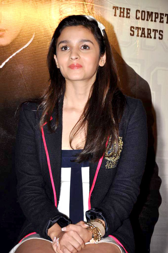 Filealia Bhatt At The Promo Launch Of Student Of The Yearjpg