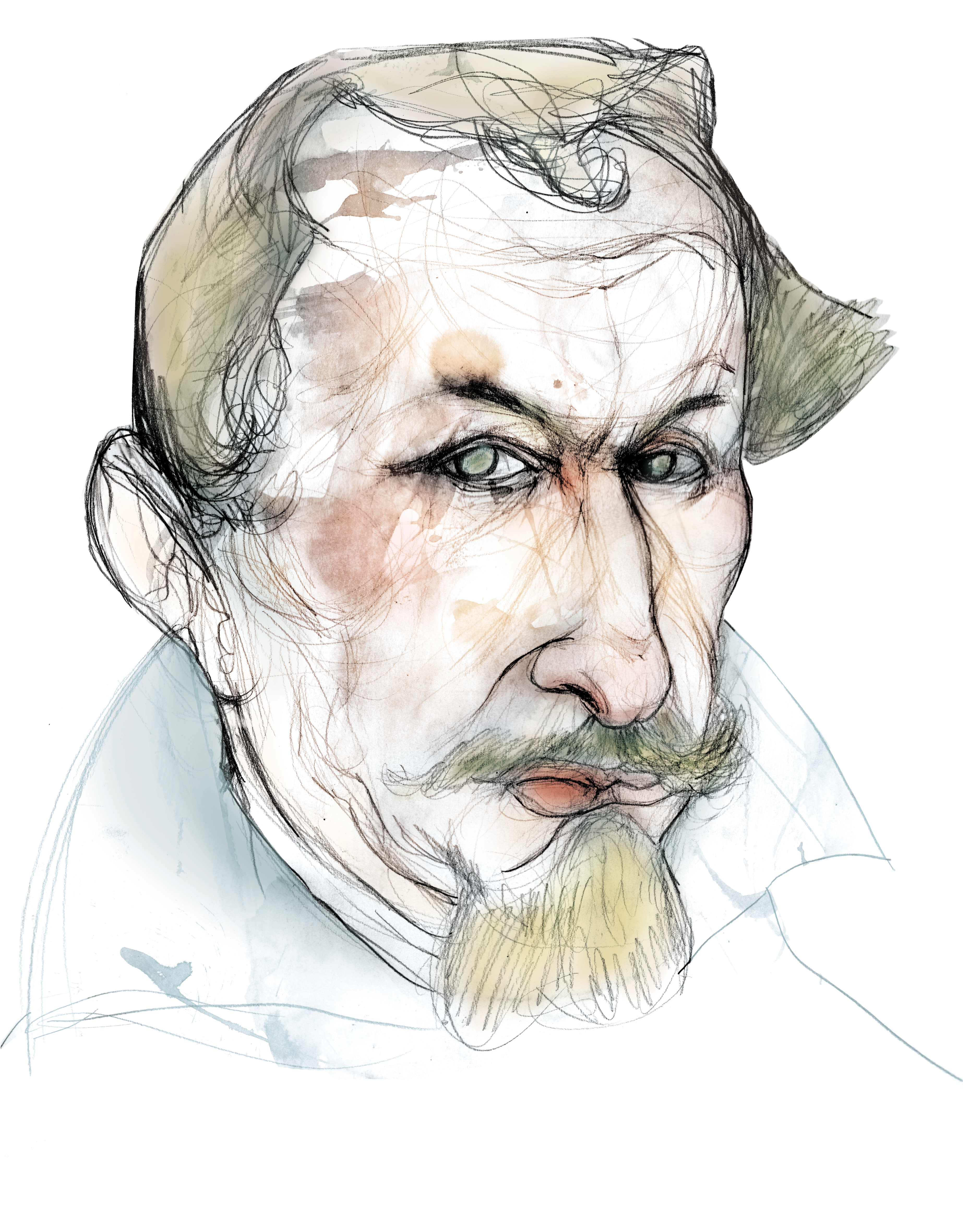 Sketch of Alonso de Santa Cruz, from the [[Spanish Foundation for Science and Technology]]