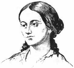 Portrait drawing of Sarah Margaret Fuller